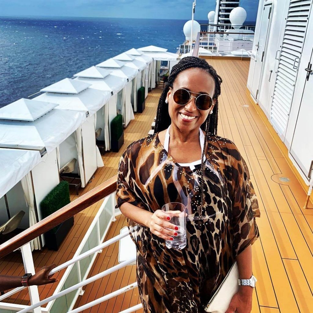 Nadeen White from The Sophisticated Life cruising to the Bahamas.