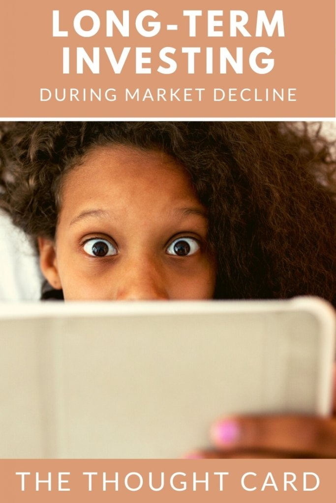 Tips for anxious investors during a market decline - tips for remaining consistent in your investment strategy.